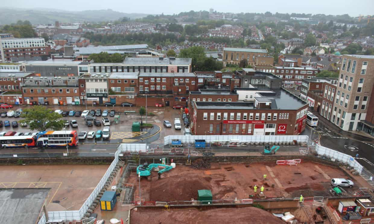 A Roman fort has been discovered under where thousands of us have walked in Exeter city centre