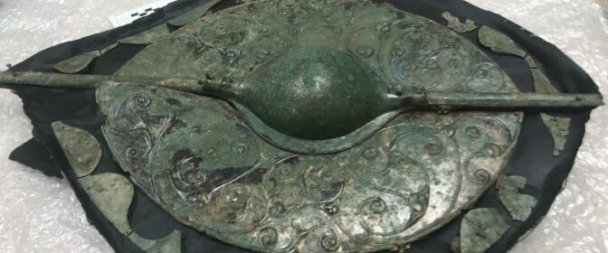 Celtic shield buried with Bronze Age warrior 2,000 years ago is 'UK's most important find'