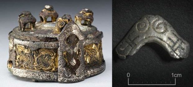 The small piece of silver was found at a Viking fortress in Køge, Denmark.