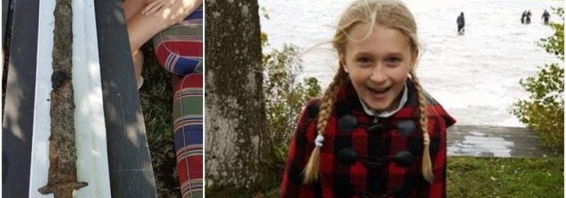 Eight-year-old Swedish-American girl pulls pre-Viking era sword from a lake