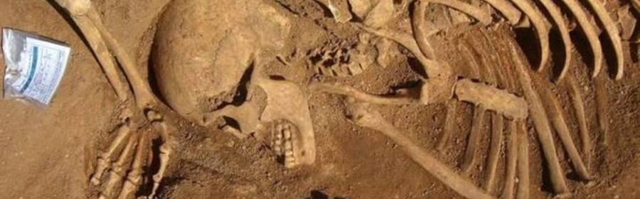 Burials of Africans slaves found at the old rubbish dump in Portugal