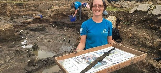 Roman swords and toys found in Hadrian's Wall Vindolanda dig