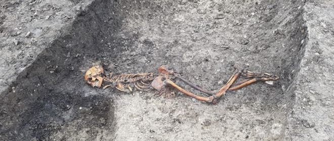 Murder mystery on HS2 route as Iron Age man found buried face down with hands bound