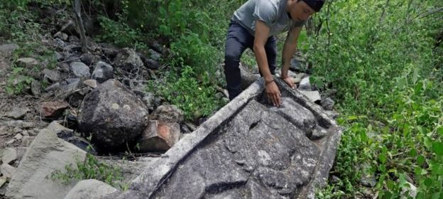 Pre-Hispanic ruins found on a mountaintop in Mexico
