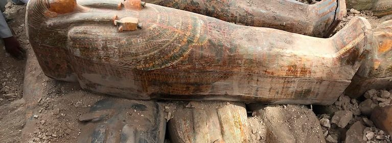 Archaeologists discover more than 20 sealed coffins just as the ancient Egyptians left them