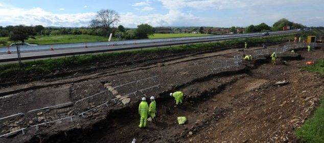 Archaeological dig on the A1 in North Yorkshire uncovers Roman remains