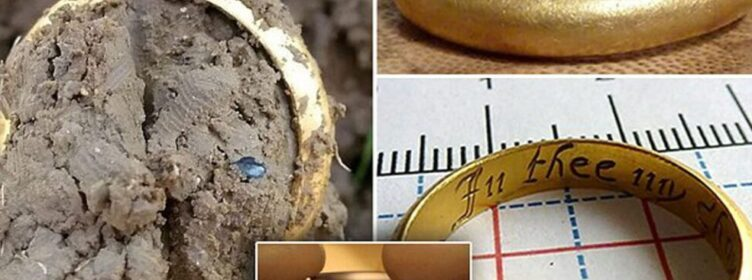 Solid gold ring with inscription similar to the one in Lord of the Rings is found in a farmer's field