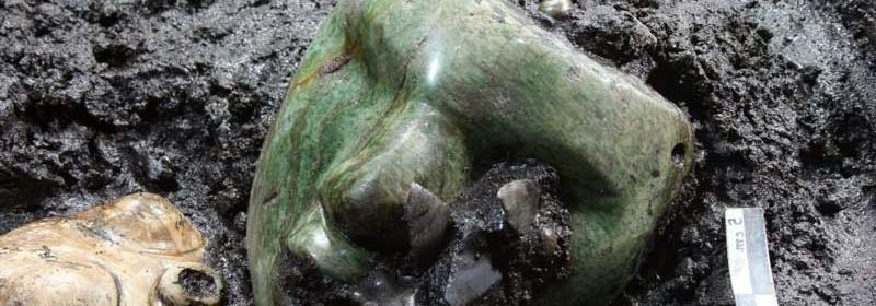"A 2,000-Year-Old Green Mask Has Been Found Inside The Ancient ""Pyramid of the Sun"""