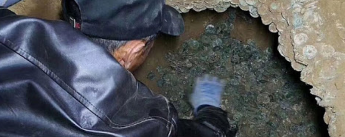 Ancient coins weighing 460 kg found in Shaanxi