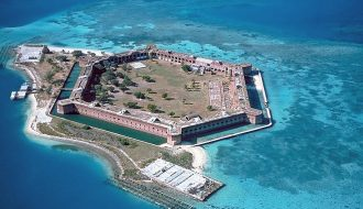 Composed of over 16 million bricks, Fort Jefferson in Florida is the largest abandoned brick structure in North America