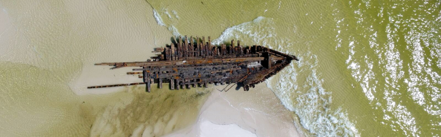 Hurricane Michael unearths nearly 120-year-old ship wreckage on Florida island