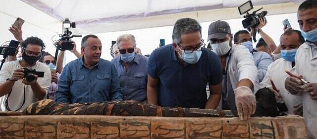 Egypt unveils 59 ancient coffins in major archaeological discovery