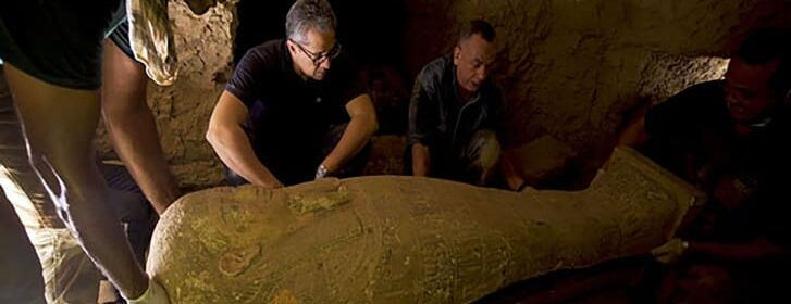 Archaeologists unearthed 27 sarcophagi in an ancient Egyptian city of the dead. They've been sealed for more than 2,500 years
