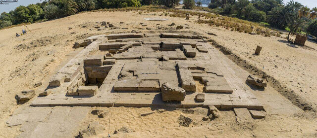 Roman temple remains discovered in Aswan by Egyptian archaeologists