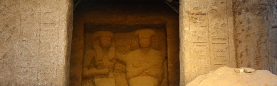 Archaeological project discovers 3,400-year-old family made out of sandstone in Egypt