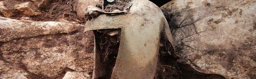 Ancient Greek helmet found buried next to 'elite warrior' who died 2,400 years ago
