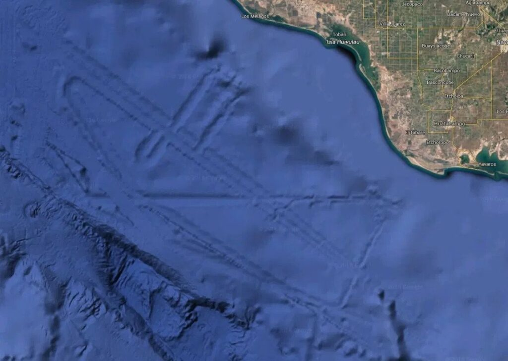Alien spotters have claimed a gigantic Atlantis-style alien city is hidden beneath the waters of the Gulf of California