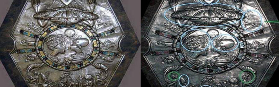 A strange Alien medallion was discovered in an Egyptian tomb